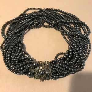 Vintage Monet multi faux pearl choker